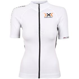 X-Bionic The Trick maglietta a maniche corte Donna Full Zip bianco